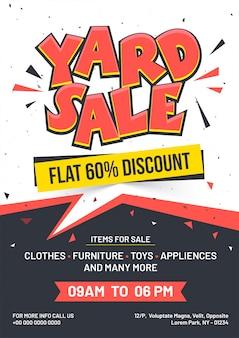 Anúncio de evento de venda de garagem ou quintal
