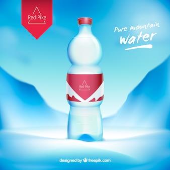 Anúncio de garrafa de água