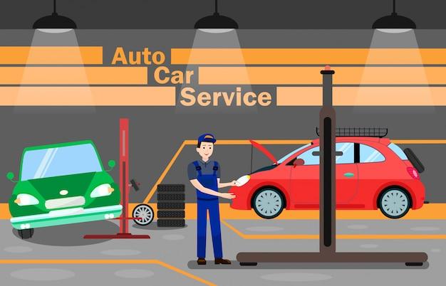 Anúncio de manutenção de automóveis