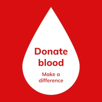 Anúncio de mídia social de vetor de modelo de campanha de doação de sangue em estilo minimalista