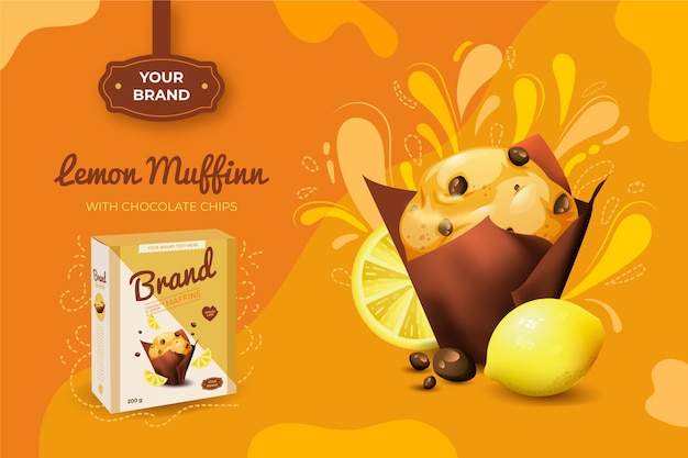 Anúncio de muffin de limão