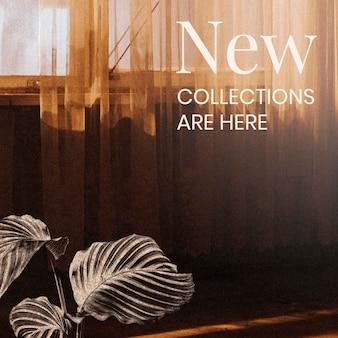 Anúncio de nova coleção para marketing