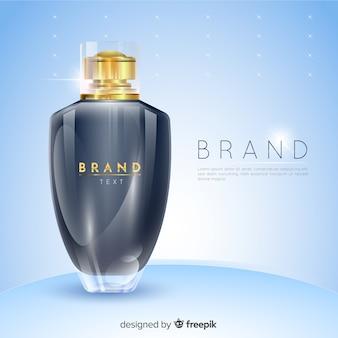 Anúncio de perfume de luxo
