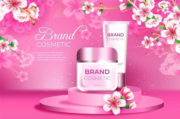 Anúncio de produto em creme cosmético