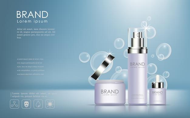 Anúncio de produtos cosméticos