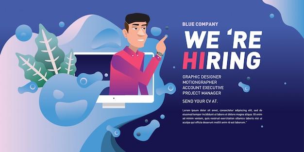 Anúncio de recrutamento de vagas para empresa digital