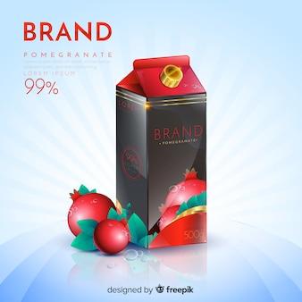 Anúncio de suco de romã