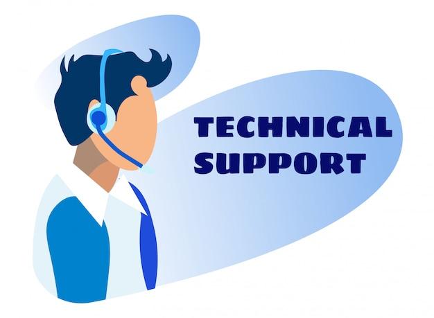 Anúncio de suporte técnico on-line e ajuda virtual