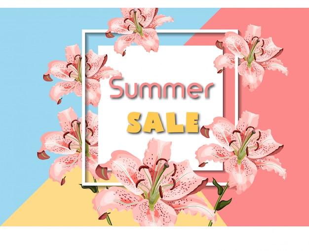 Anúncio de venda de verão