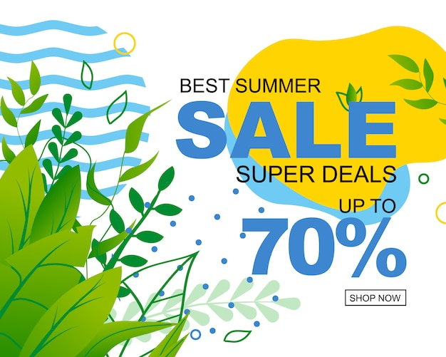 Anúncio de vendas de verão.