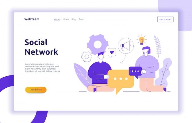 Anúncio de vetor e marketing serviço de mídia social