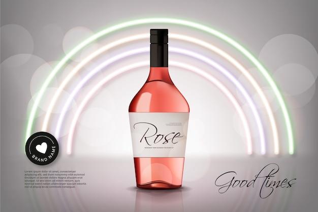 Anúncio de vinho rosé