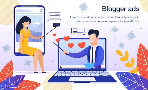 Anúncio do blogger flat