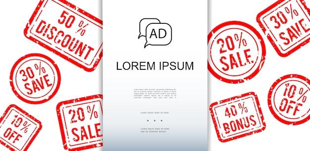 Anúncio e modelo de promoção