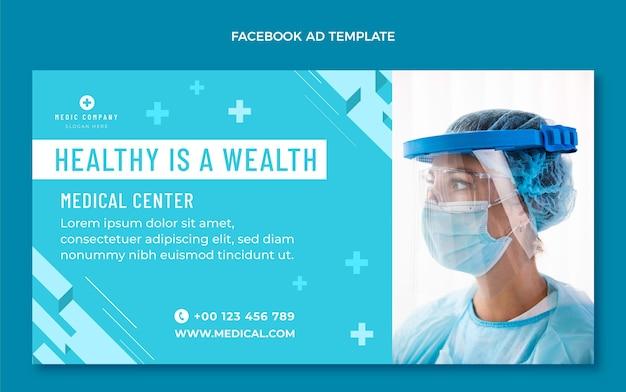 Anúncio médico no facebook de design plano