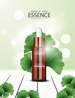 Anúncios cosméticos de ginkgo