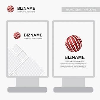 Anúncios da empresa banner design exclusivo com logotipo da bola