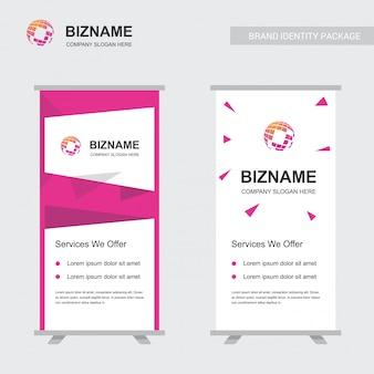 Anúncios da empresa banner design exclusivo com logotipo do mapa do mundo