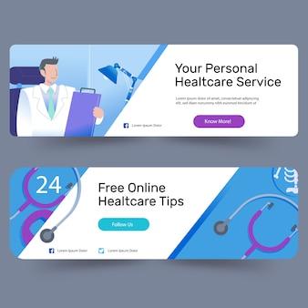 Anúncios de banner de check-up médico