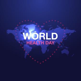 Anúncios de banner do dia mundial da saúde