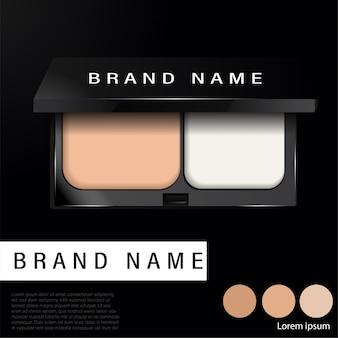 Anúncios de base compactos de almofada, produto essencial de maquiagem atraente