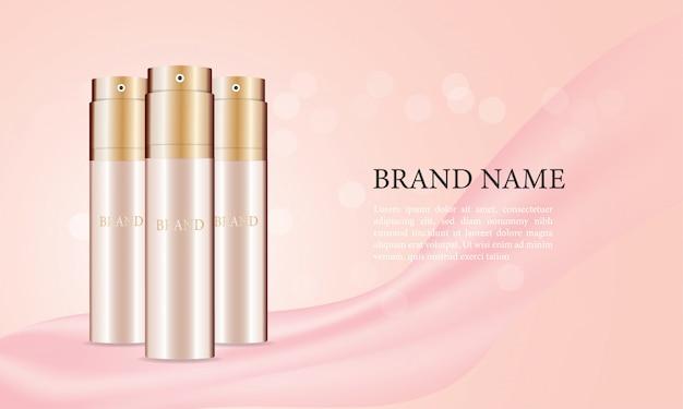 Anúncios de frascos de spray skincare
