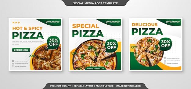 Anúncios de mídia social com estilo limpo e minimalista