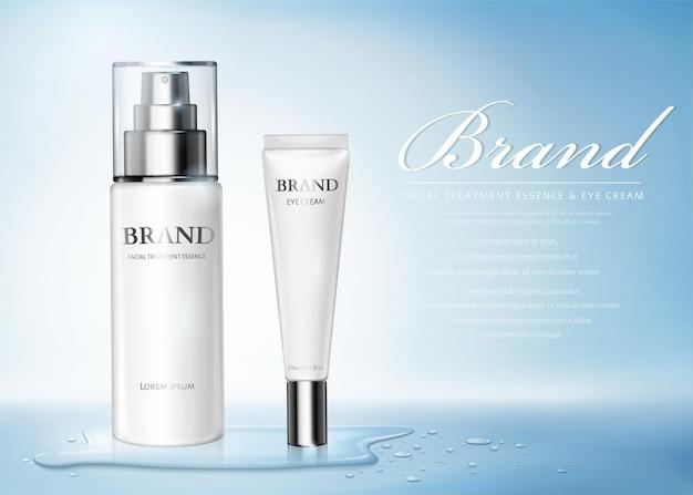 Anúncios de produtos de cuidados com a pele com umidade
