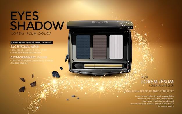 Anúncios de sombras com embalagens elegantes