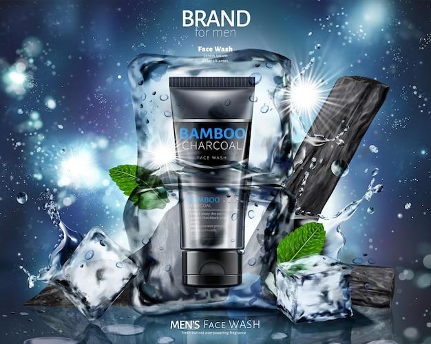 Anúncios para lavagem facial de carvão de bambu