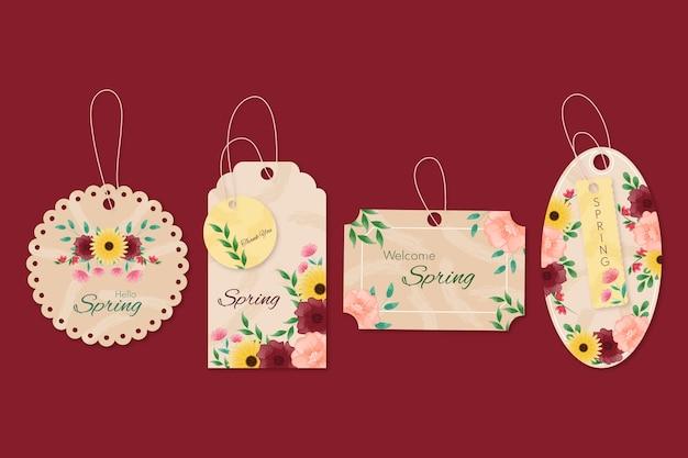 Anúncios publicitários primavera cabides florais