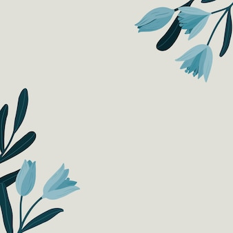 Anúncios sociais blue botanical copy space