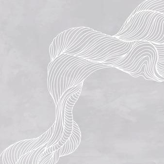 Anúncios sociais cinza com moldura de linha abstrata