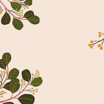 Anúncios sociais de cópia botânica