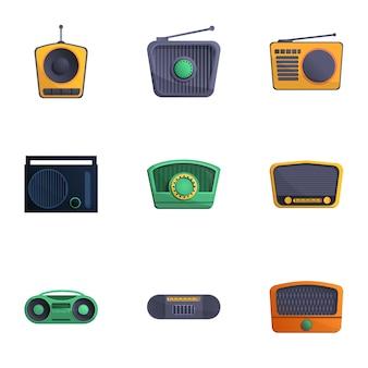Aparelho de rádio, estilo cartoon