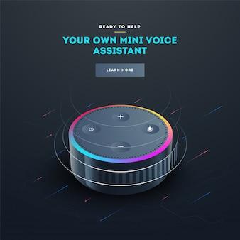 Aparelho de reconhecimento de voz inteligente.