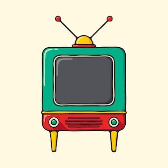 Aparelho de televisão vintage