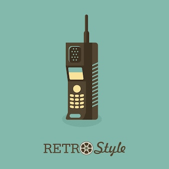 Aparelho portátil. o radiotelefone. um modelo desatualizado.