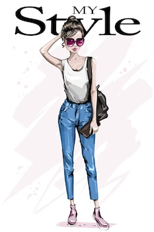 Aparência de mulher fashion