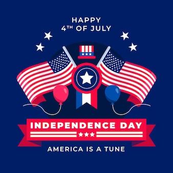 Apartamento, 4 de julho - ilustração do dia da independência
