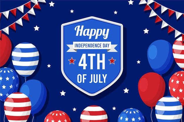 Apartamento, 4 de julho - plano de fundo dos balões do dia da independência