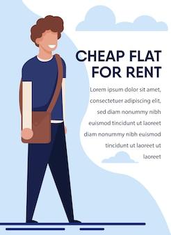 Apartamento barato para o anúncio do aluguel para estudantes