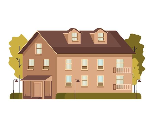 Apartamento com casa isolada