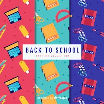 Apartamento de volta à coleção de padrão de vendas de escola