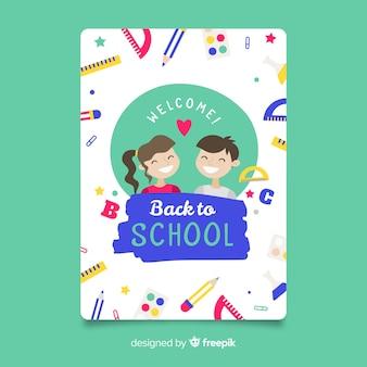 Apartamento de volta ao modelo de cartão de escola