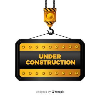 Apartamento em construção sinal fundo