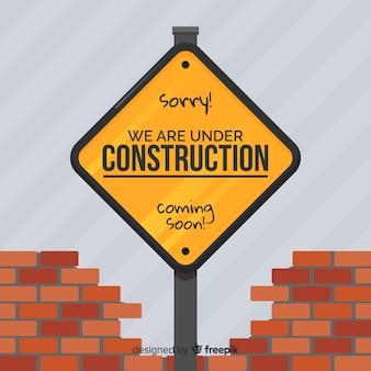 Apartamento em construção sinal