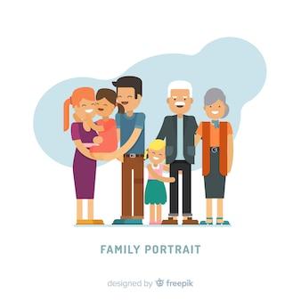 Apartamento, família, retrato