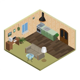 Apartamento isométrico