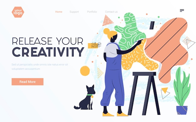 Apartamento moderno design ilustração de liberar sua criatividade